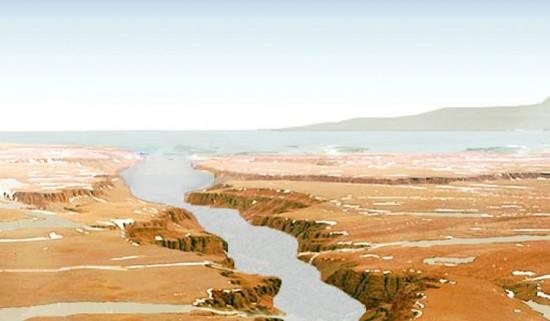 Перші річки та озера на Марсі