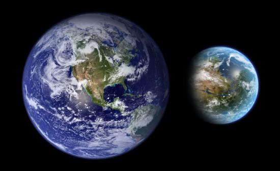 Сучасна Земля та тераформований Марс